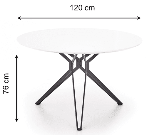 Round dining table Ø 120 cm PIXEL - dimensions