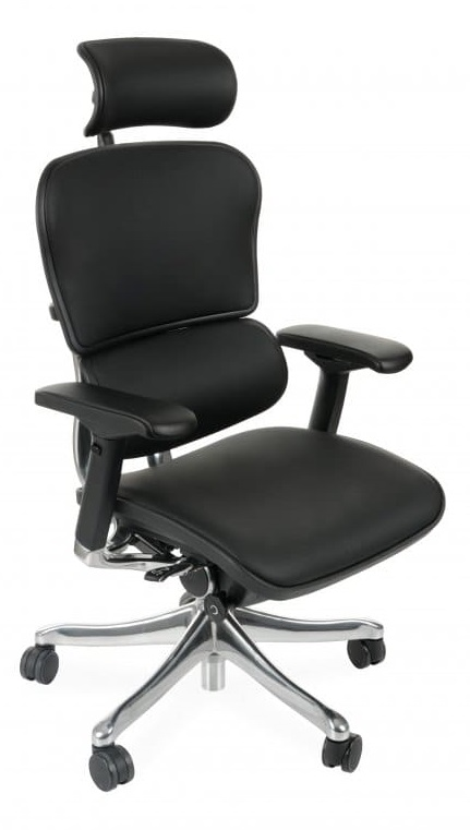 Ergonomic office chair Ergohuman natural leather - black color