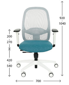 Ergonomic office chair NODI - dimensions