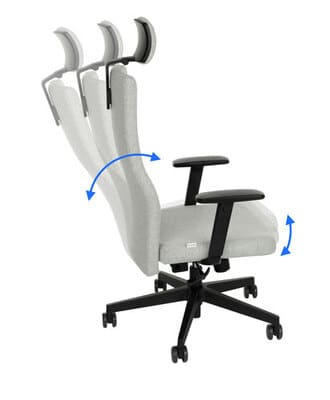 Team Plus black HD office chair SYNERGY upholstery
