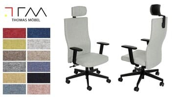 SYNERGY upholstery for Team Plus HD black office chair
