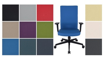 VALENCIA upholstery for the Team Plus black office chair